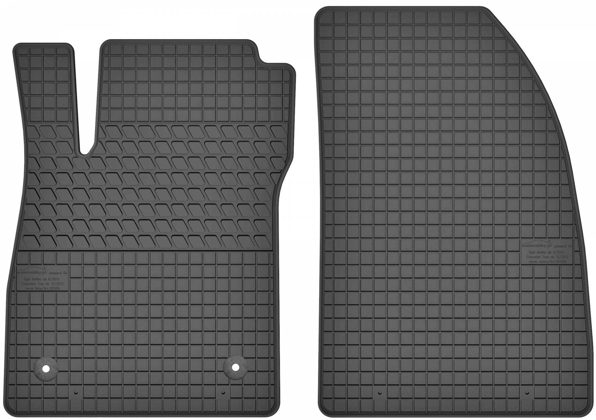 Gummimatten für Chevrolet Cruze ab 2009 Gummi-Fußmatten Automatten Reifen-Design
