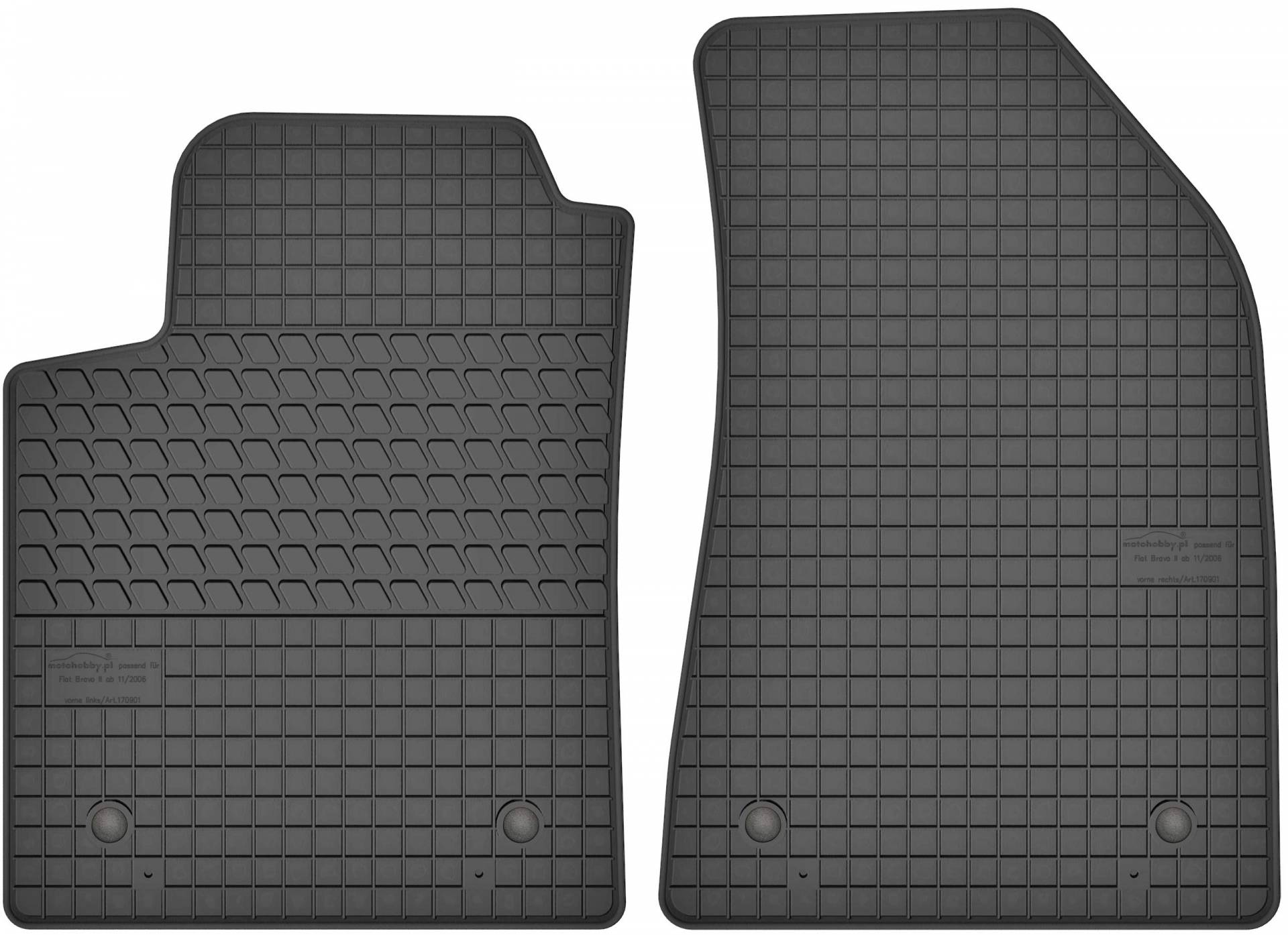 Velour Fußmatten Satz Ford Galaxy II 3-teilig Oval Clips 2006-2015 S-Max I
