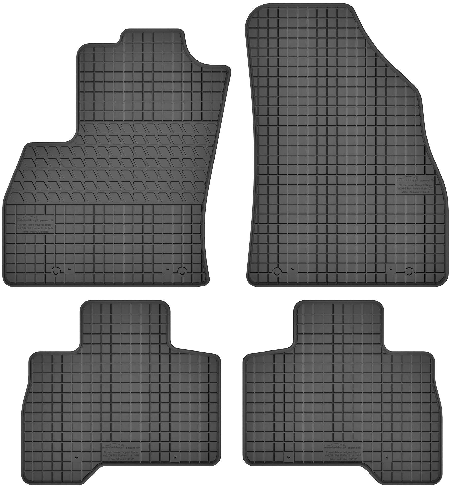 PASSGENAU Gummimatten Auto Fußmatten Set Satz für PEUGEOT 208 2012-2019 winter