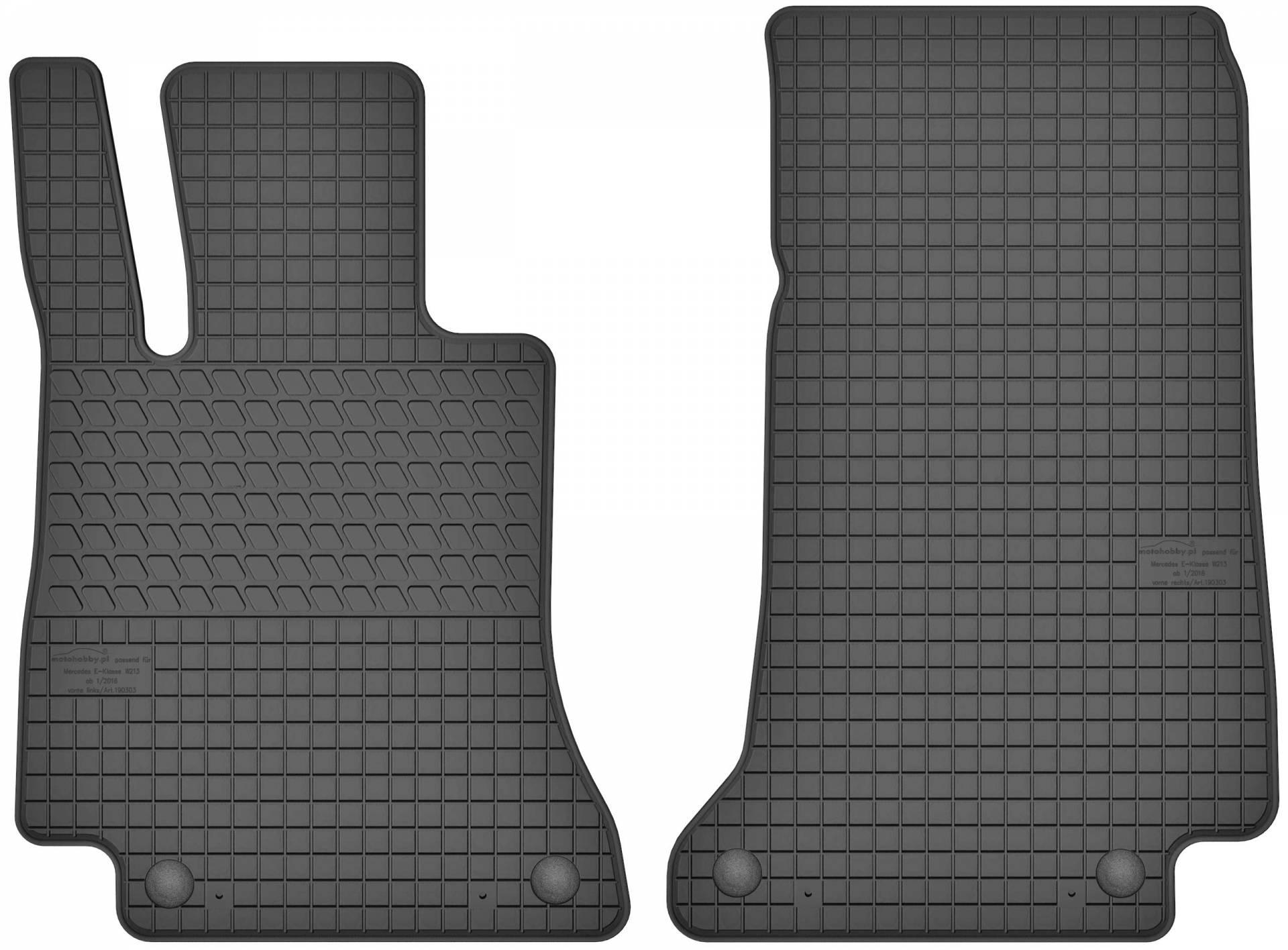 Gummimatten Gummi Fußmatten für Peugeot Partner 2 II 2008-2016 Set Motohobby
