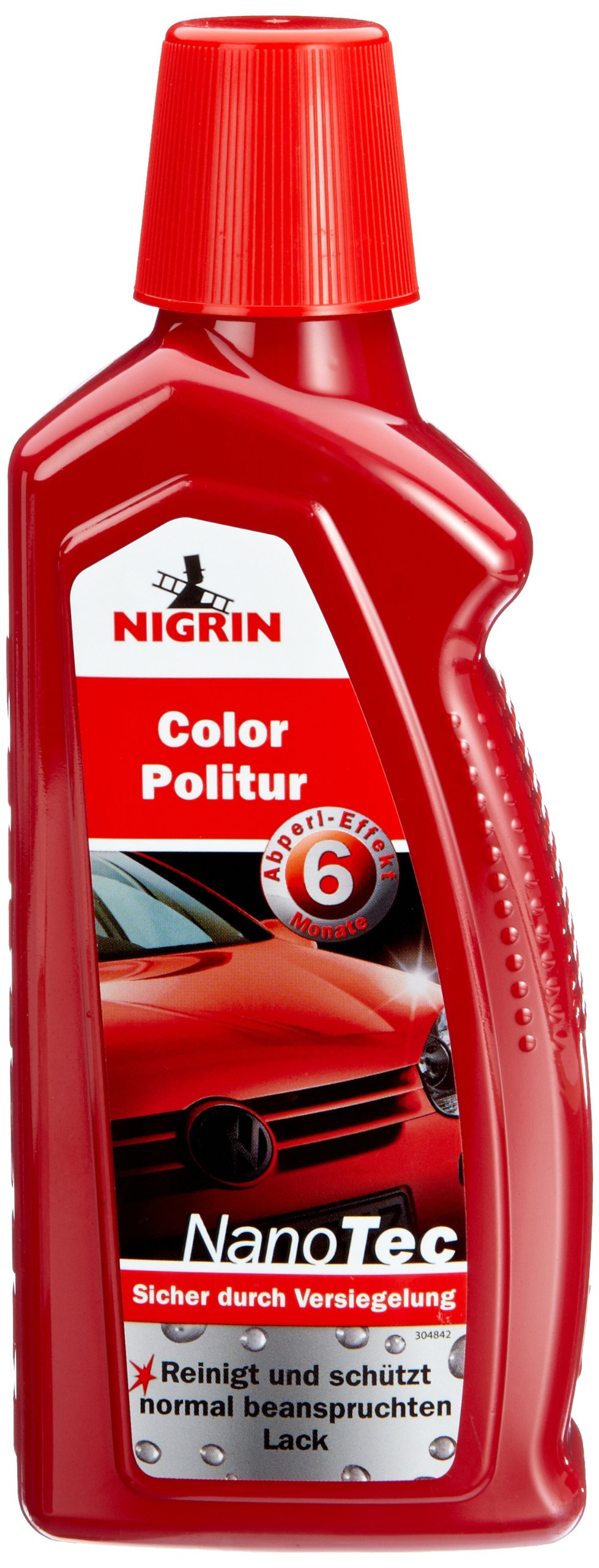 NIGRIN 73871 NanoTec Color-Politur Rot 500ml von Nigrin