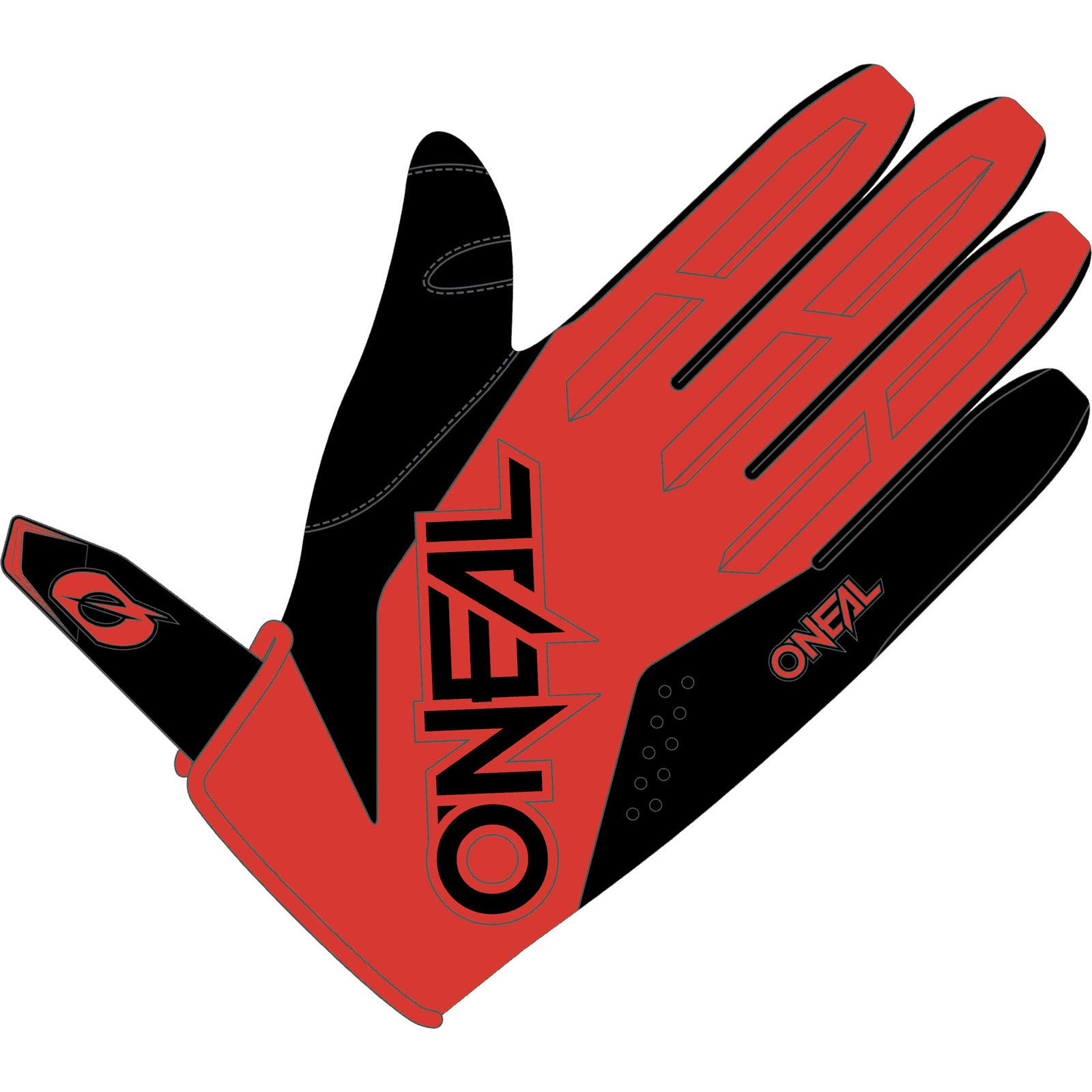O'NEAL Oneal Element Youth Glove MX Motocross Protektoren, Unisex, Rot, M von O'NEAL