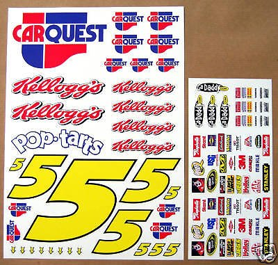 RC Nascar Auto Quest Marke Martin 1/10th aufkleber sticker von Other