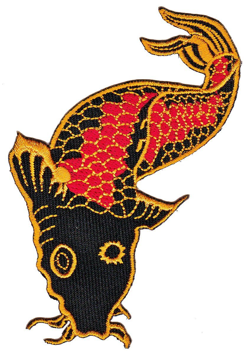Patch Fisch Koi Aufnäher Bügelbild Iron on Applikation von Patch