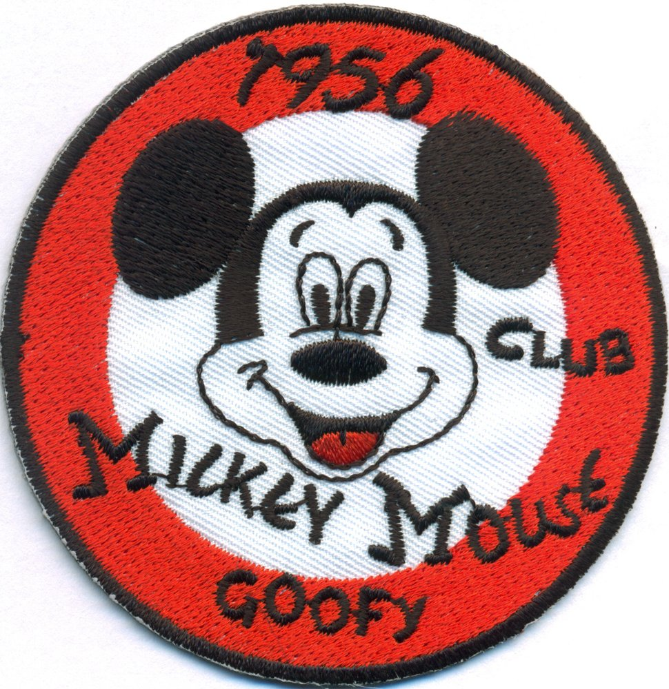 MICKEYMOUSE Mickey Mouse Goofy 1956 Vintage Old School Aufnäher Patch von Patch
