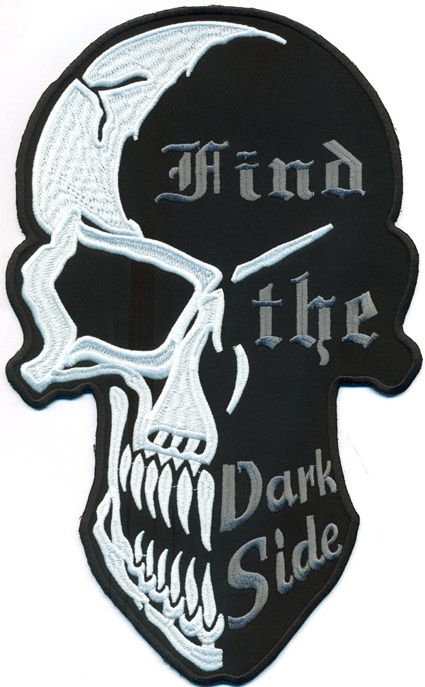 XXL, FIND THE DARK SIDE 2 Face Skull Head Totenkopf Reaper BACKPATCH Aufnäher Patch von Patch