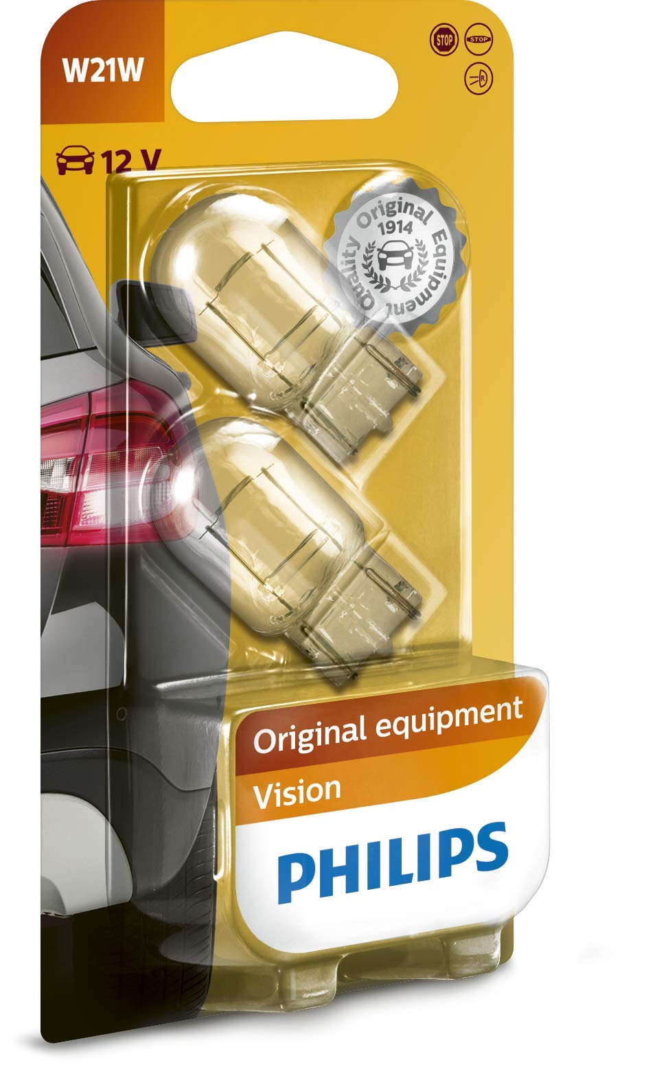 Philips 12065B2 Glassockellampe Vision, W21W von Philips automotive lighting
