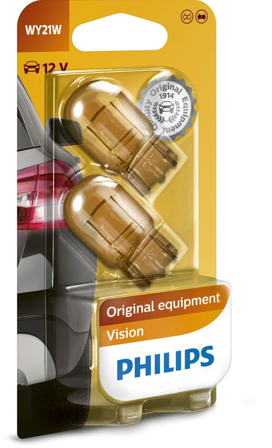 Philips 12071B2 Glassockellampe WY21W, 2-er Blister von Philips automotive lighting