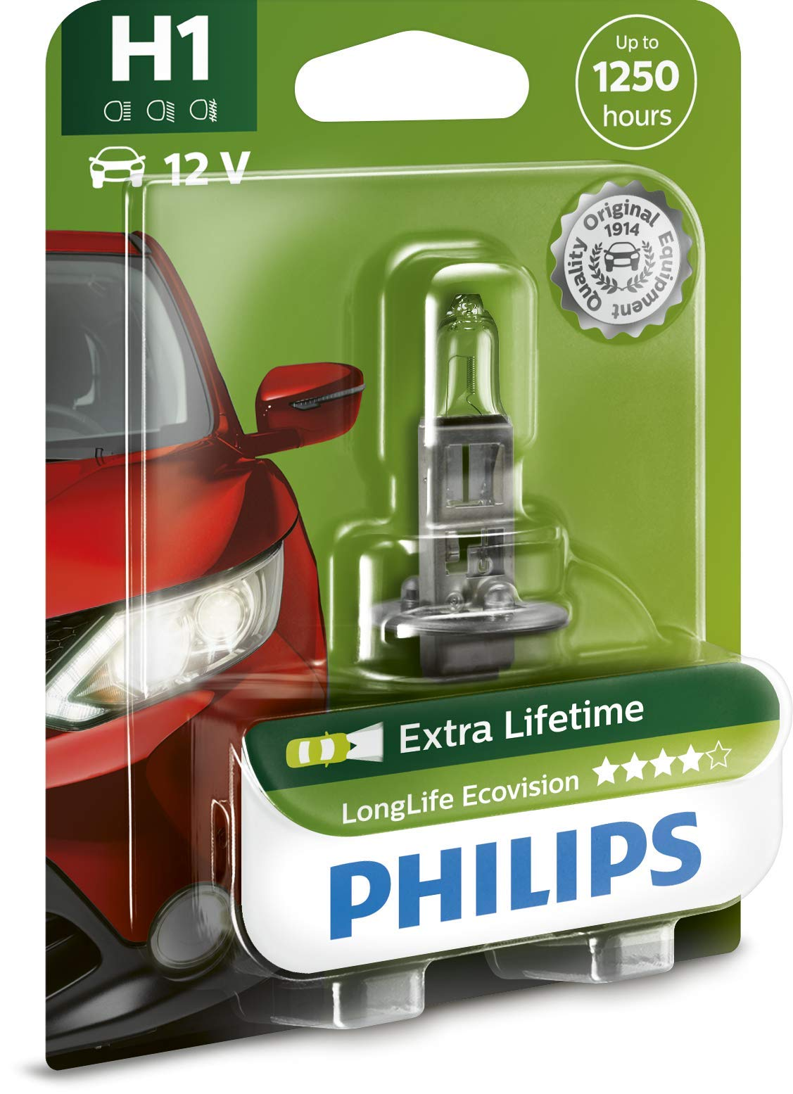 Philips 12258LLECOB1 Scheinwerferlampe H1 Long Life Eco Vision von Philips automotive lighting