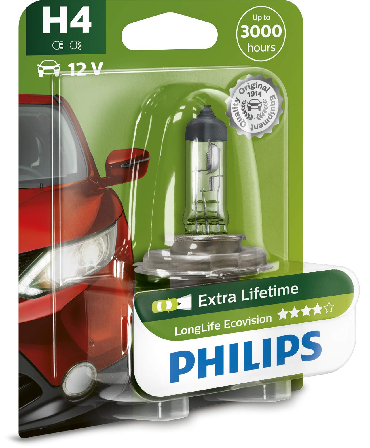 Philips 12342LLECOB1 Scheinwerferlampe H4 Long Life Eco Vision von Philips automotive lighting