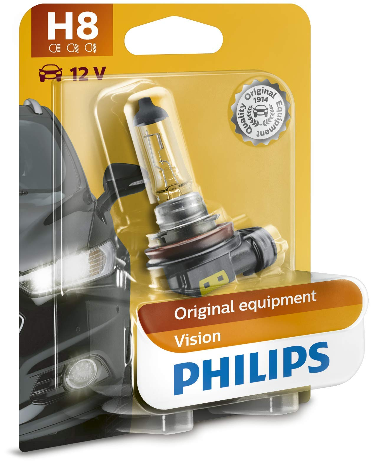 Philips 12360B1 Vision H8 Scheinwerferlampe, 1-er Blister von Philips automotive lighting