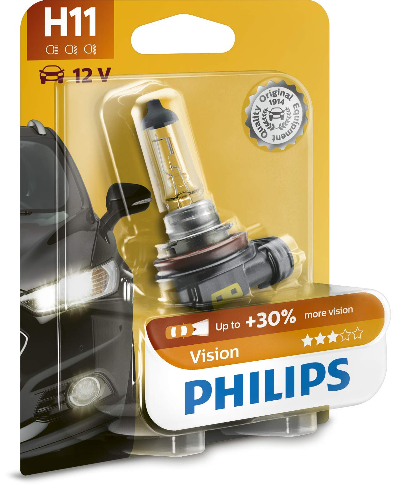Philips 12362PRB1 Scheinwerferlampe Vision H11 von Philips automotive lighting