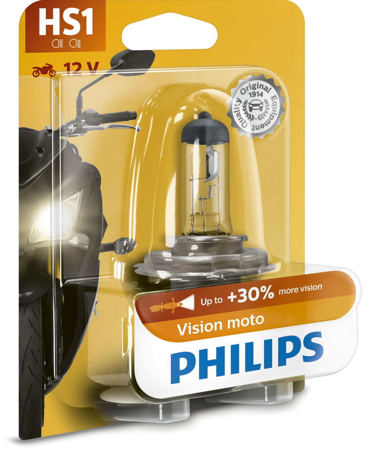 Philips 12636BW Vision Moto HS1 Motorrad-Scheinwerferlampe, 1er Blister von Philips automotive lighting