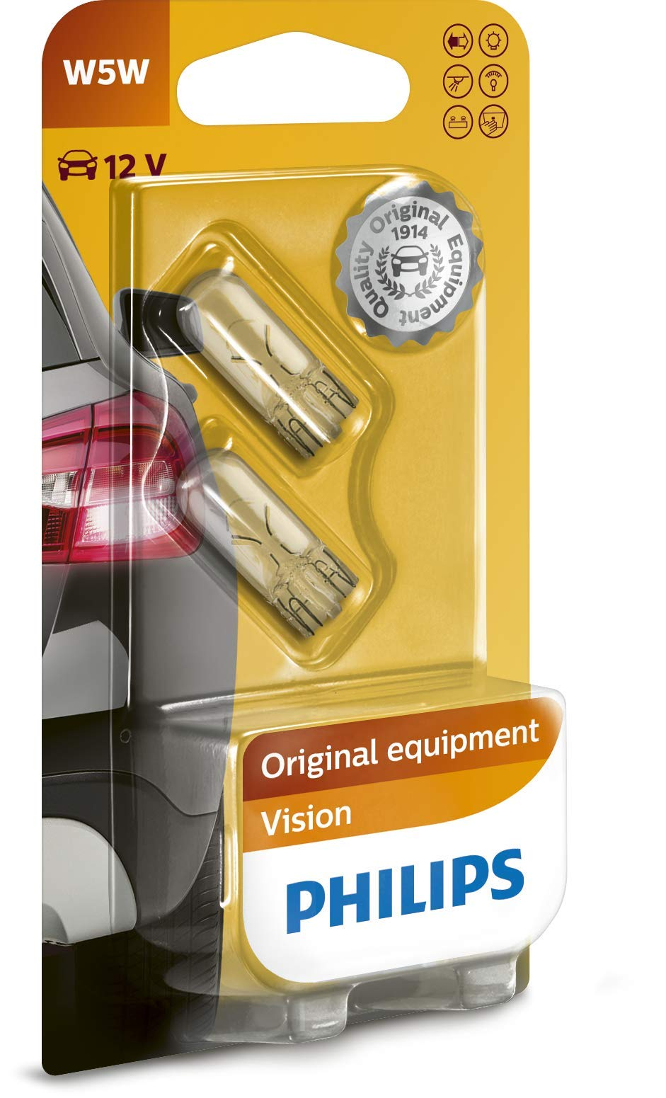 Philips 12961B2 Glassockellampe Vision W5W von Philips automotive lighting