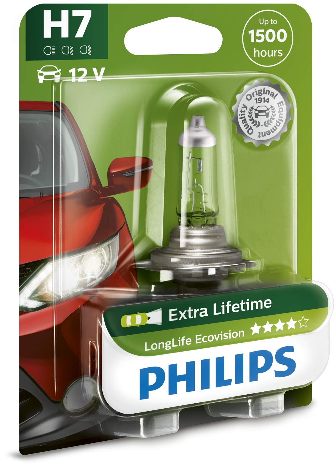 Philips 12972LLECOB1 Scheinwerferlampe H7 Long Life Eco Vision von Philips automotive lighting