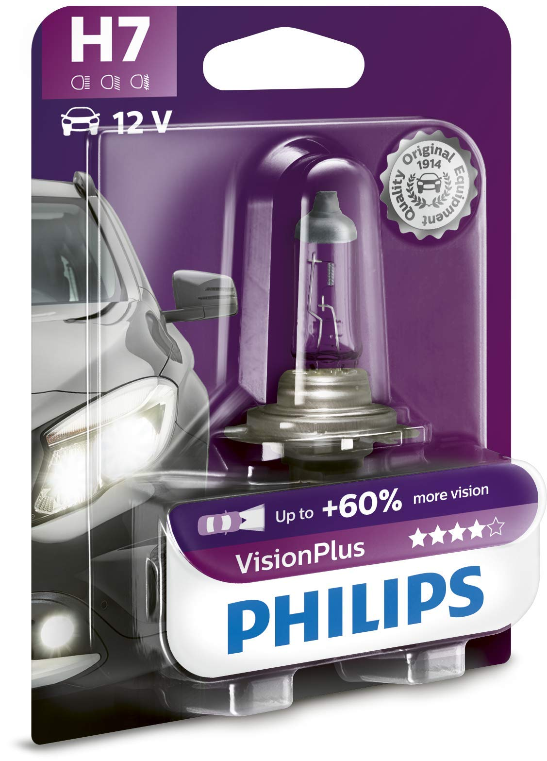 Philips 12972VPB1 Scheinwerferlampe H7 Vision Plus von Philips automotive lighting