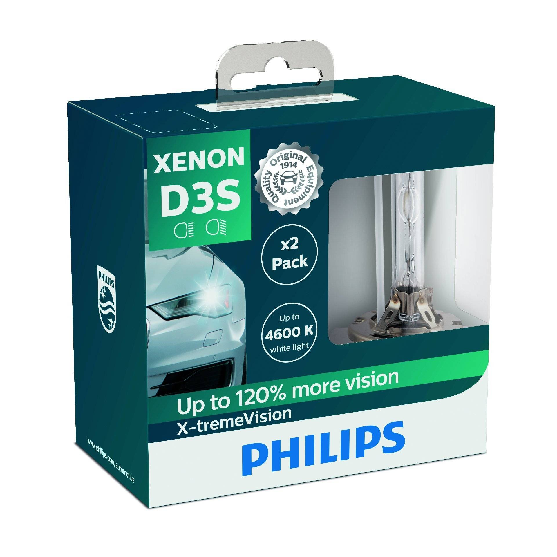Philips 42403XVS2 Xenon-Scheinwerferlampe X-tremeVision D3S, Doppelset von Philips automotive lighting
