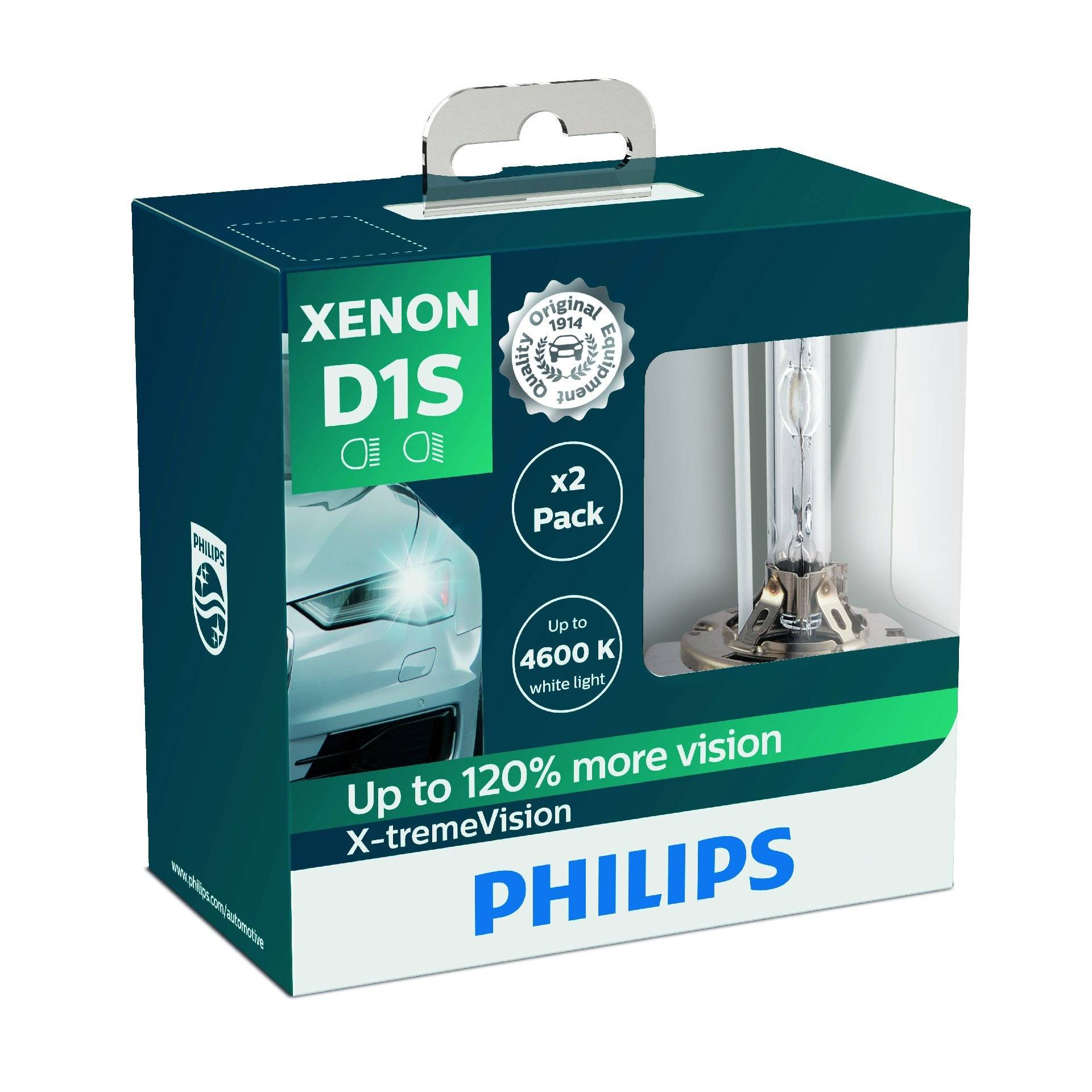 Philips 85415XVS2 Xenon-Scheinwerferlampe X-tremeVision D1S, Doppelset von Philips automotive lighting