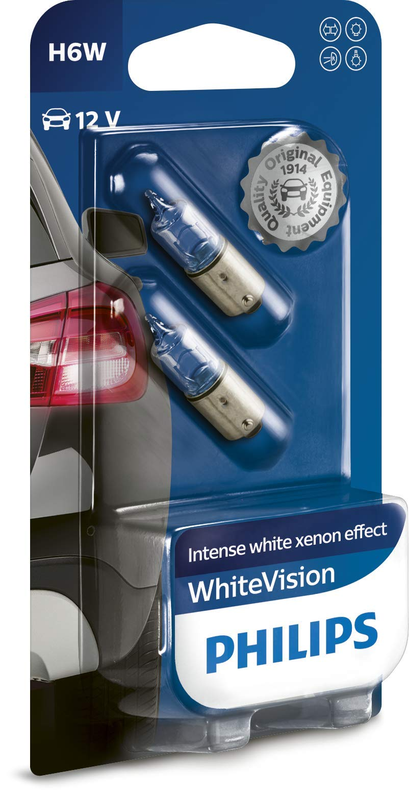 Philips WhiteVision Xenon-Effekt H6W Autolampe 12036WHVB2, Doppelblister von Philips automotive lighting