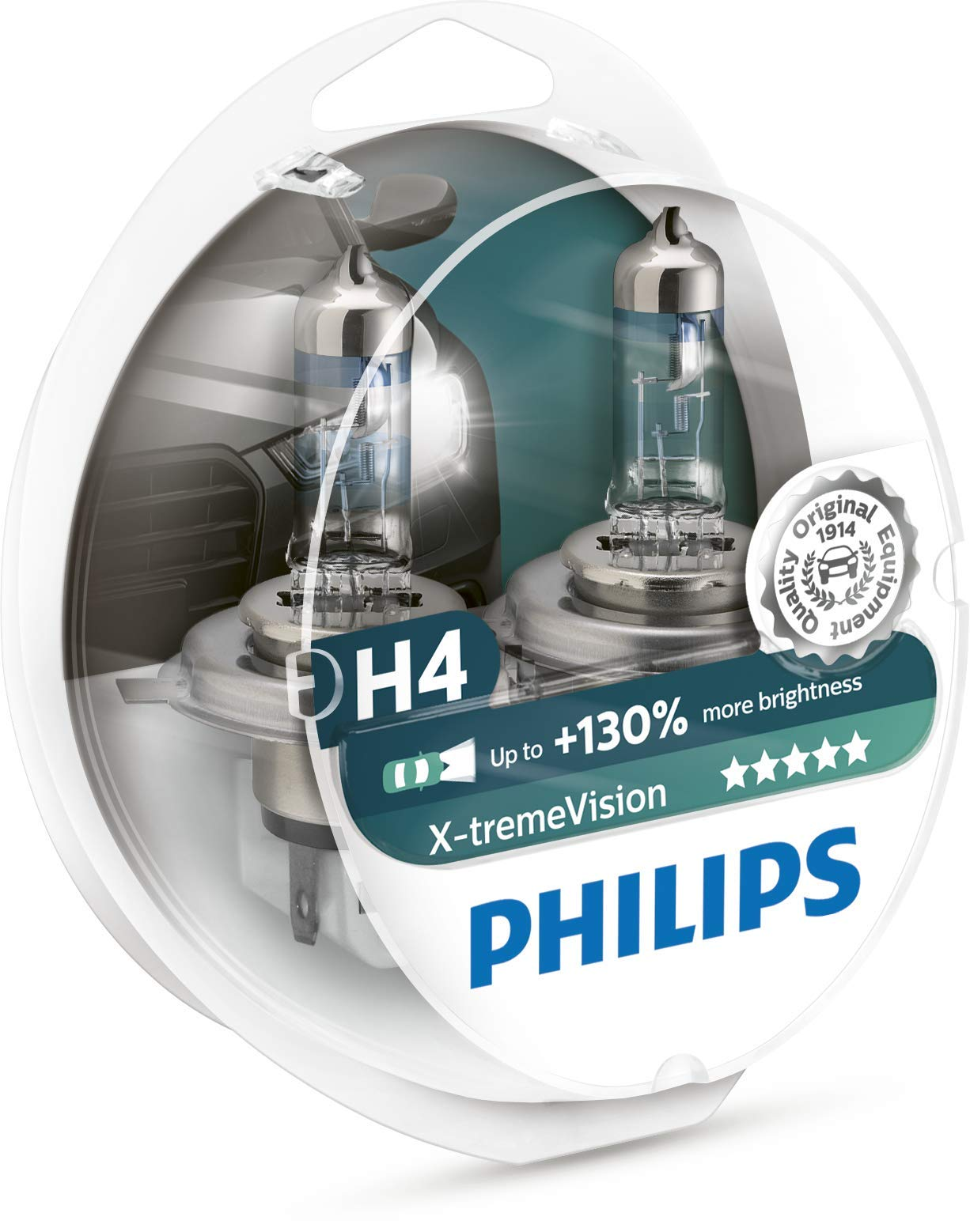 Philips 12342XV+S2 XtremeVision 130Prozent Halogen Scheinwerferlampe H4 2er Set von Philips automotive lighting