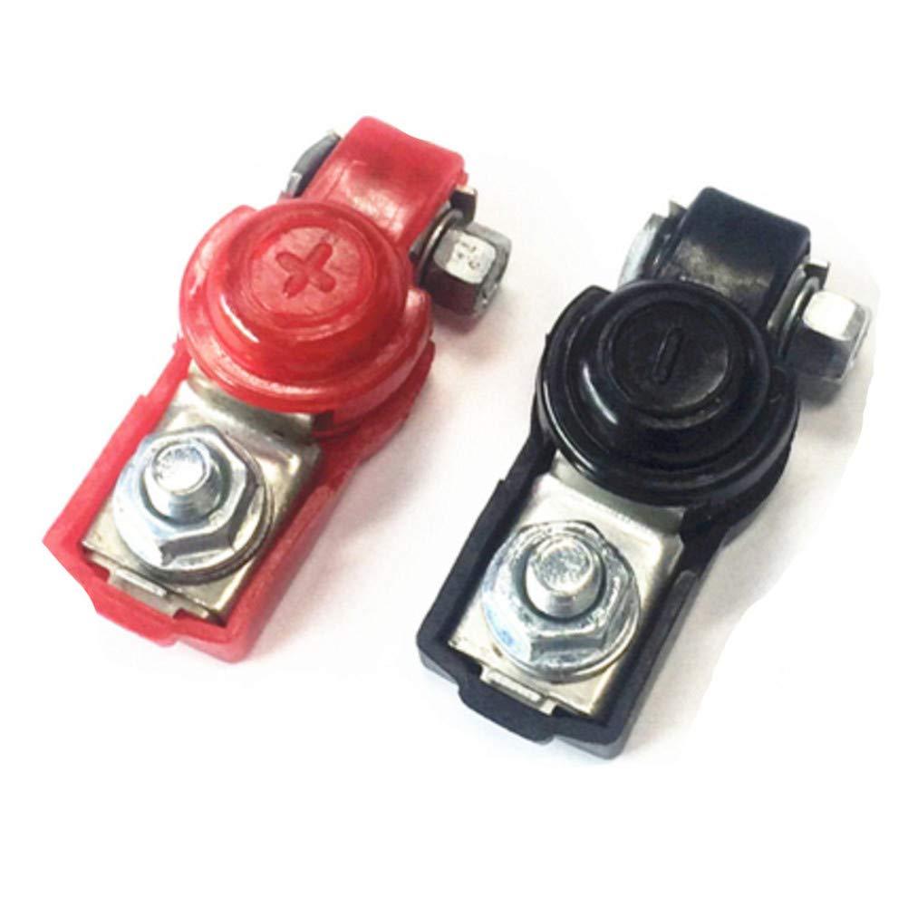 Type H Set Qiorange 2Pcs Batterie Schnellwechsel-Steckverbinder Batterie Schnelltrennanschl/üsse Rot /& Schwarz