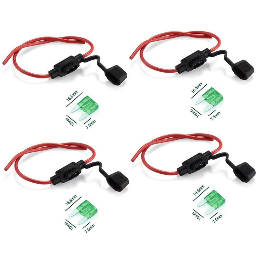 Kfz Sicherungshalter Kabel Flachsicherung Maxi Halter für Auto LKW Wasserdicht