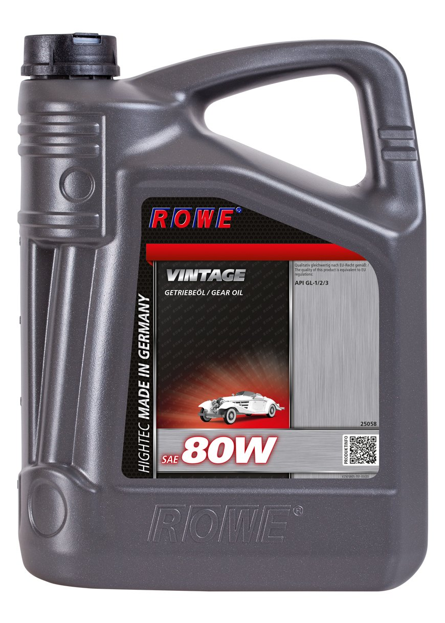 ROWE Hightec Vintage SAE 80W - 5 Liter Oldtimer, Youngtimer Getriebeöl | Made in Germany von ROWE