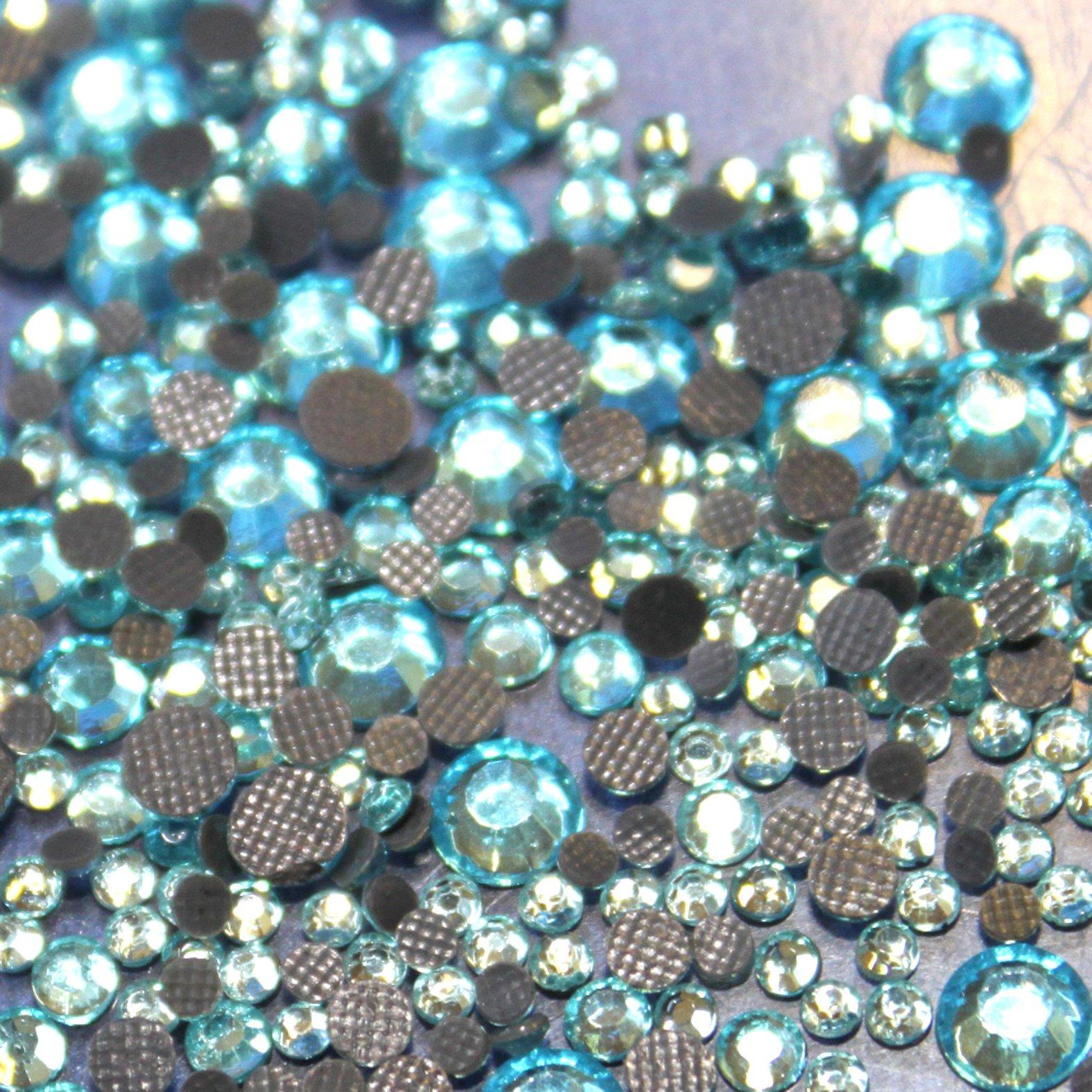 Mischung aus 500/Strasssteinen Hotfix Sortiment s06// s10// s16// s20 bling schwarz Glas