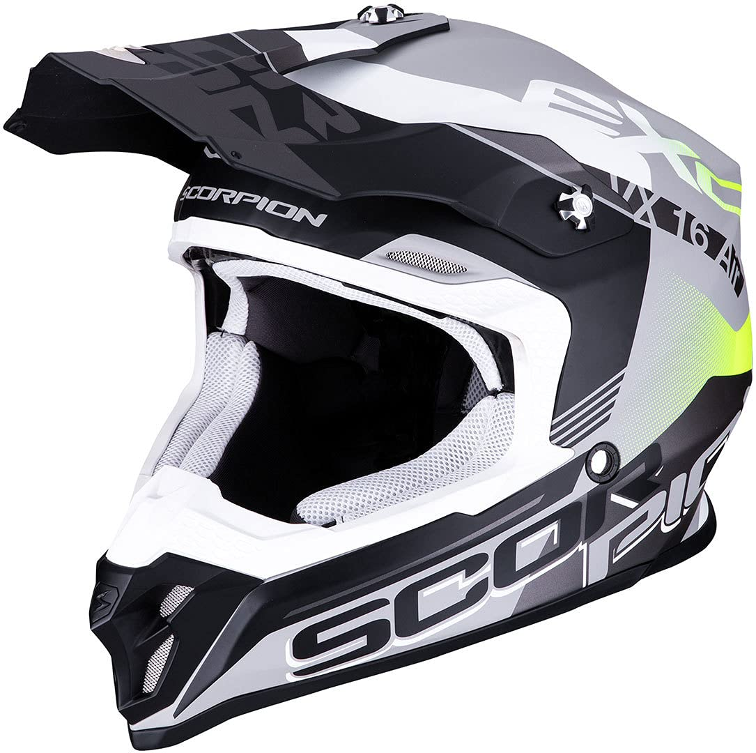 Scorpion 46-266-218-05, Silver Matte-Black-Yellow Neon, L von Scorpion