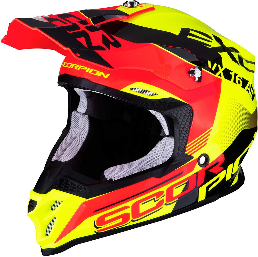 Scorpion Unisex – Erwachsene VX-16 AIR Arhus XL, Yellow-Neon-Red Flu von Scorpion