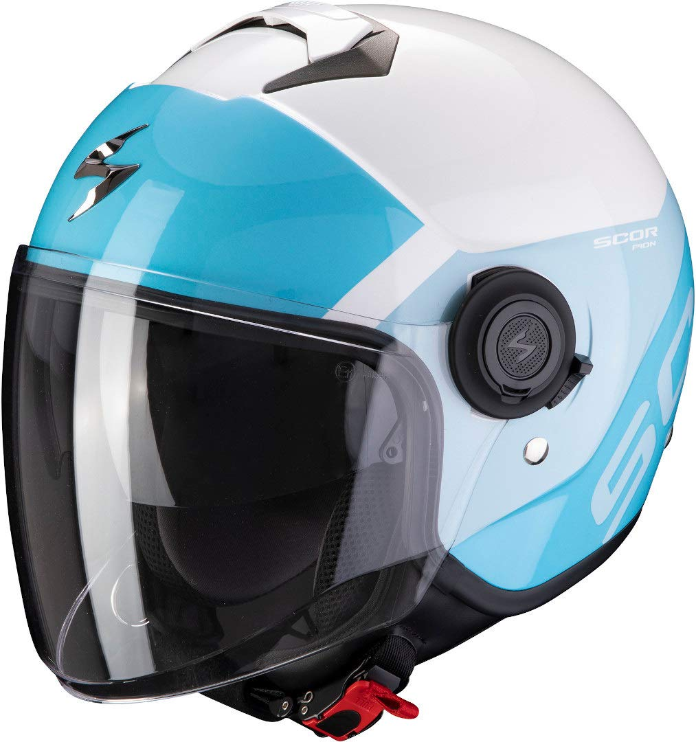 Scorpion Motorradhelm EXO-CITY SYMPA White-Light Blue, Weiss/Blau, XS von Scorpion