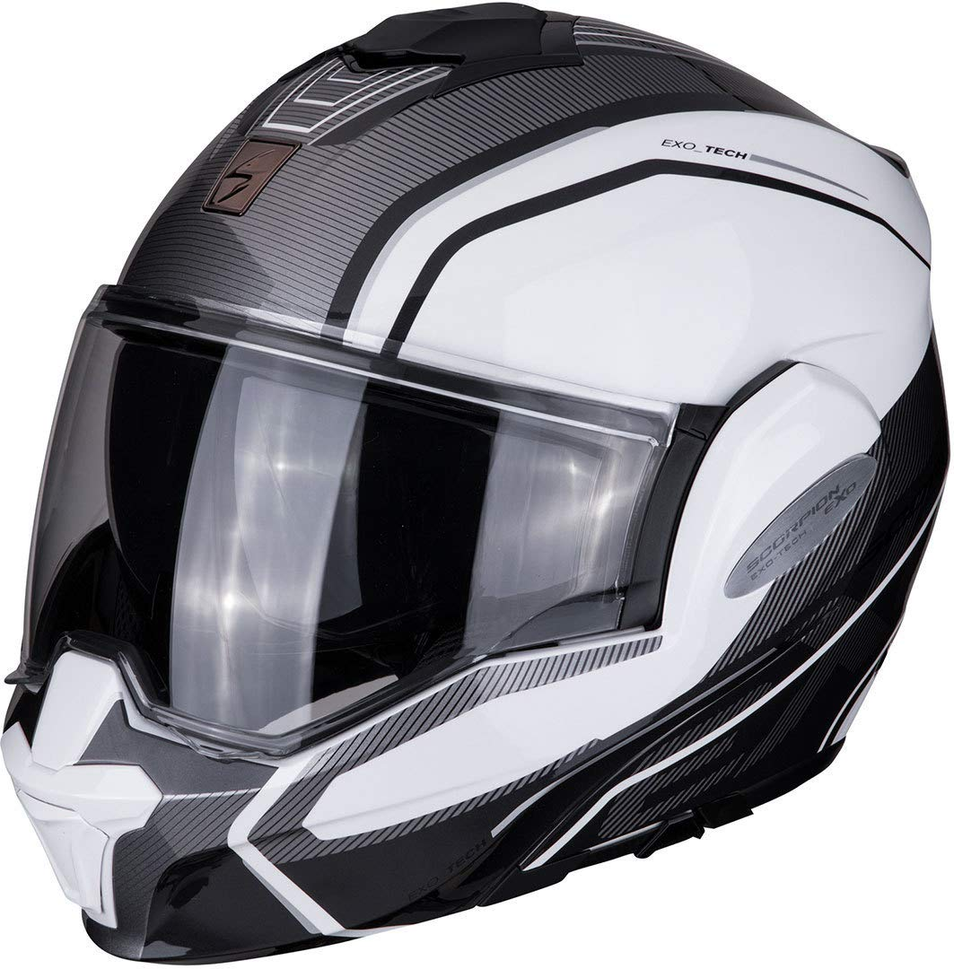 SCORPION Herren EXO TECH TIME Off Helm, Pearl White-Silver, XXL von Scorpion