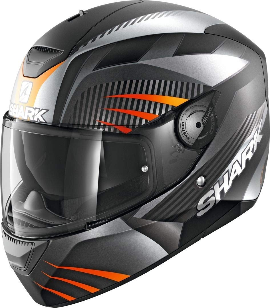 Shark Integralhelm D-skwal Mercurium schwarz anthrazit orange matt KAO Größe XL von Shark