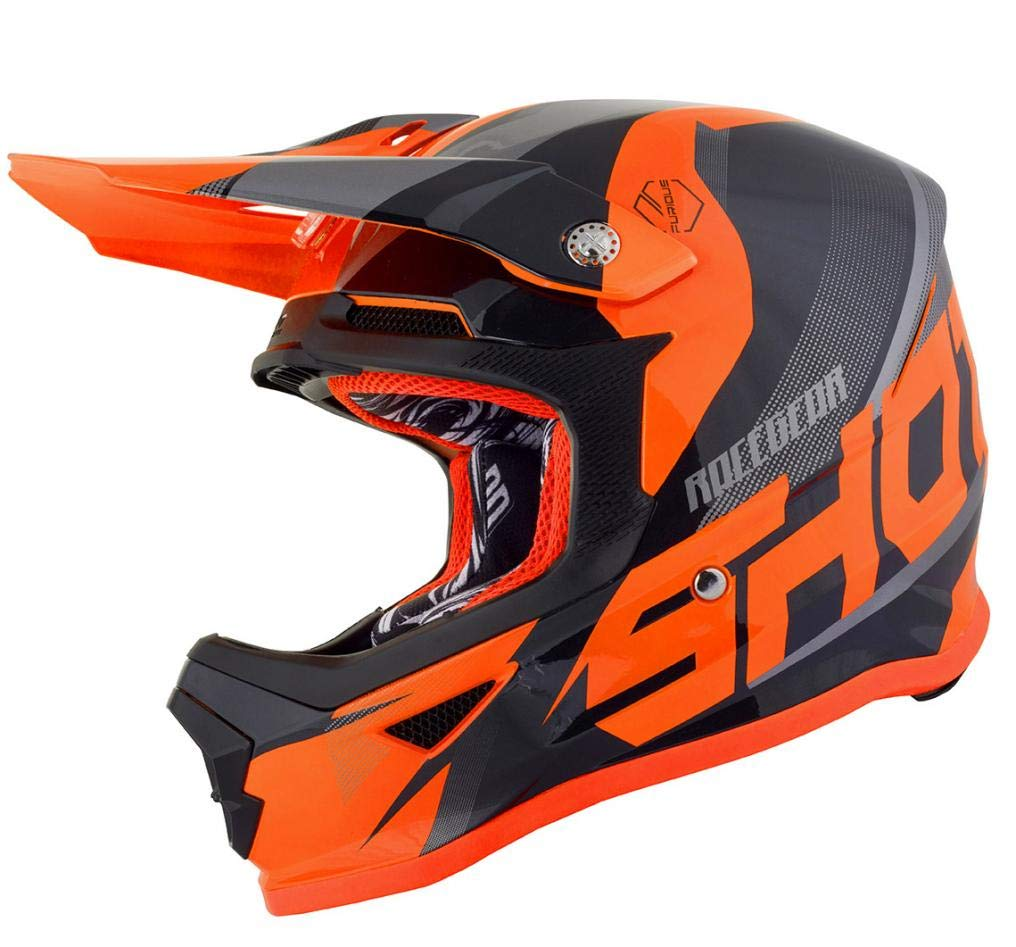 Shot Crosshelm Furious Ultimate Kid, Schwarz/Neon/Orange, Ym von Shot
