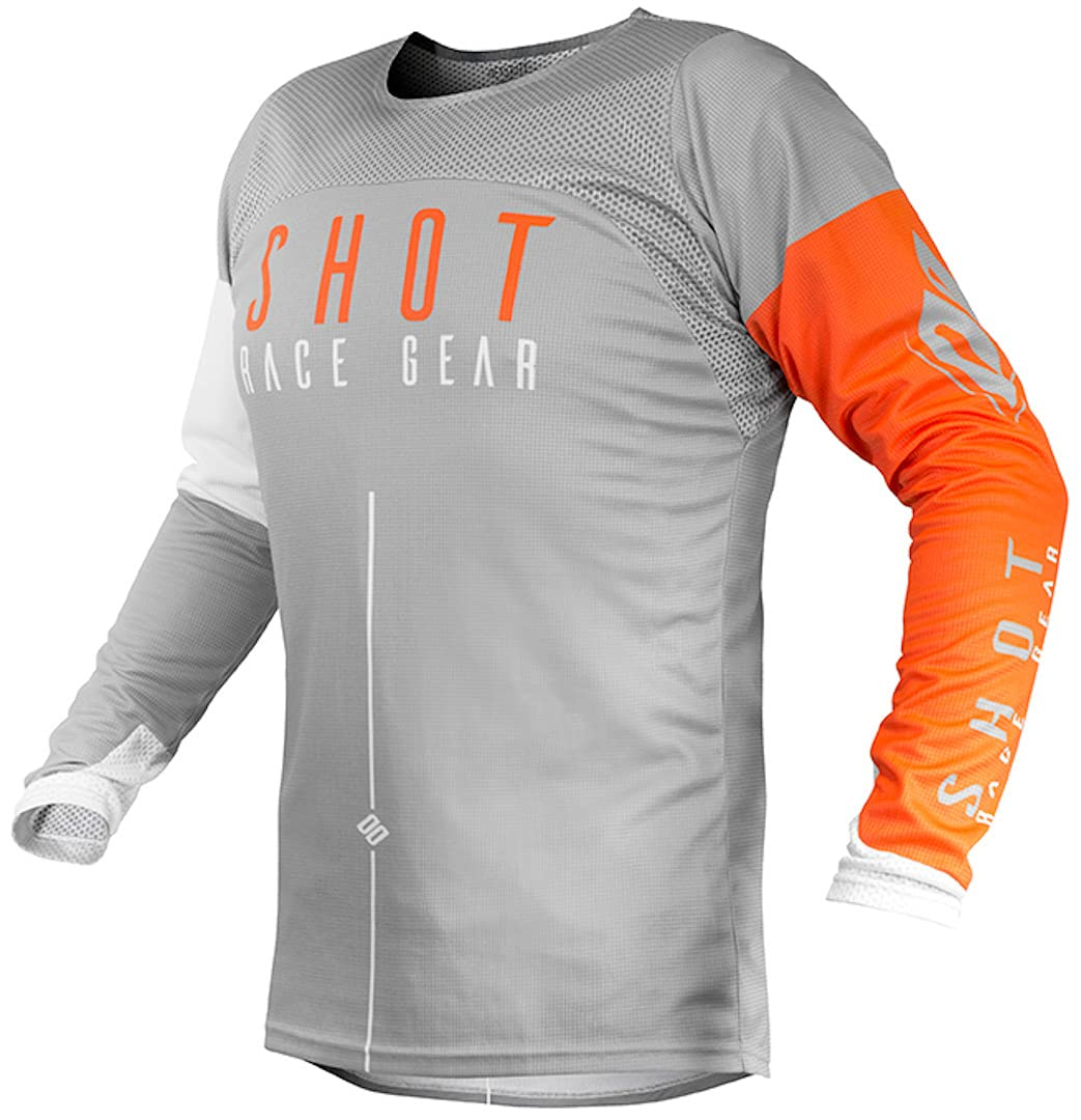 Shot Trikot Cross Aerolite Alpha hellgrau orange von Shot