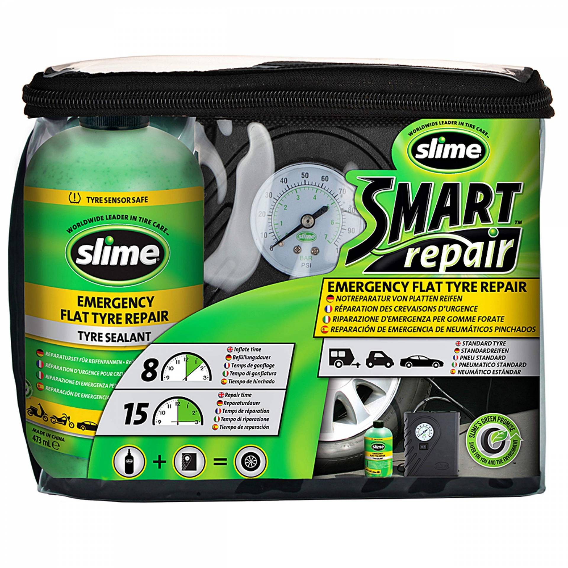 slime 45078604 Smart repair set, Black von Slime