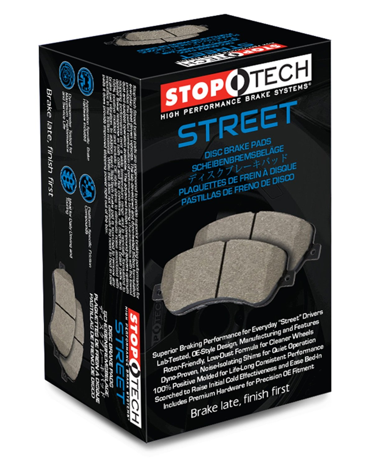StopTech 308.05552 Street Bremsbelag, Set of 4 von StopTech