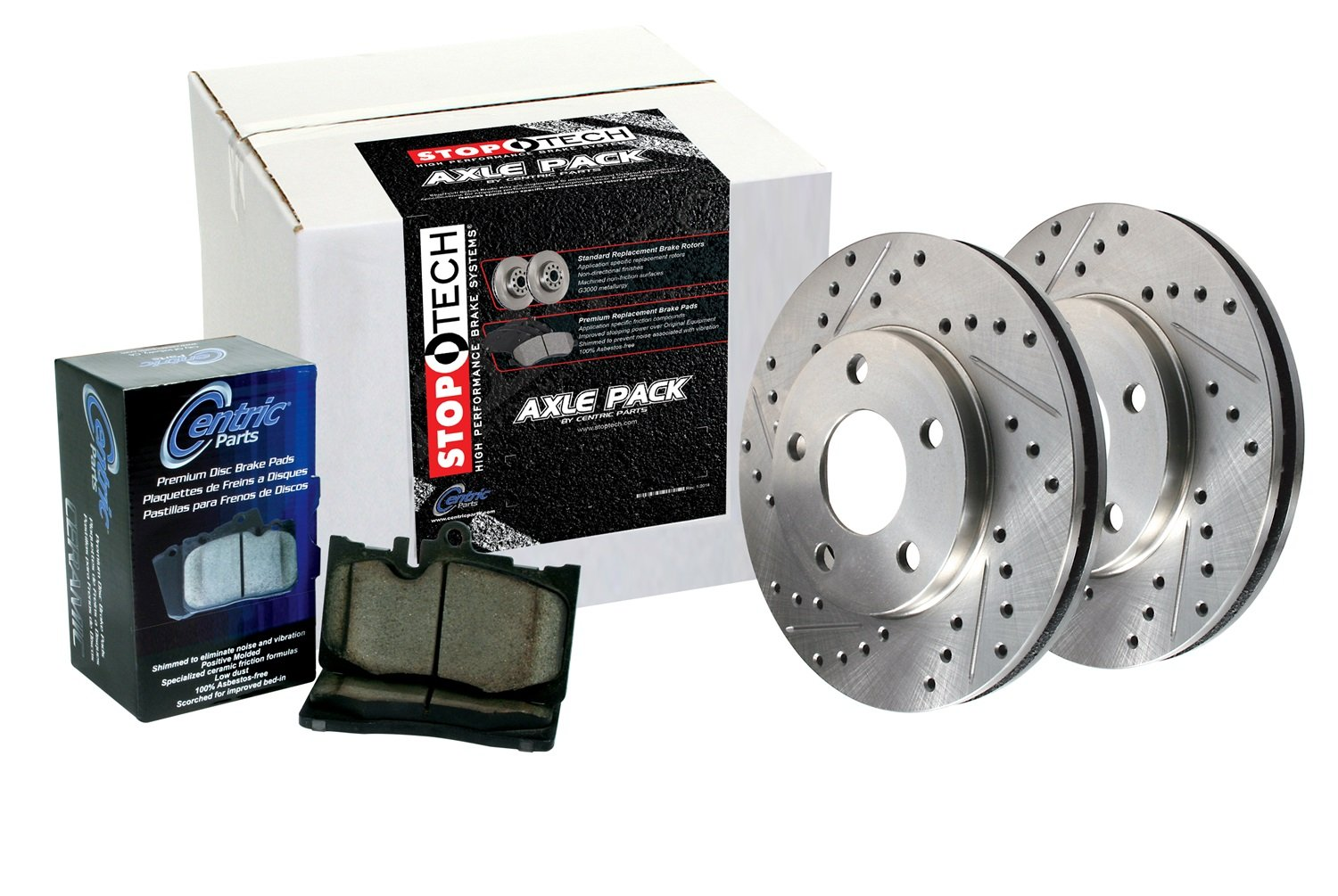 Stoptech 979.44024R Sport Axle Pack Drilled Rotor, Rear von StopTech