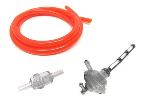 Benzinschlauch Rot Federklemme Benzinfilter Set f/ür Roller//Mofa//Moped//Universal