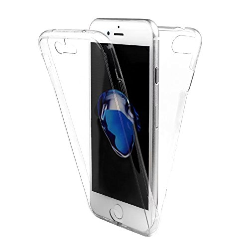 Swallowuk TPU Full Body 360 ° Transparent Cover Edge Hülle Case Schale Handy Tasche Schutz Etui Bumper Geeignet für alle Smartphones (Für Samsung Galaxy S6 Edge Plus, Transparent) von Swallowuk