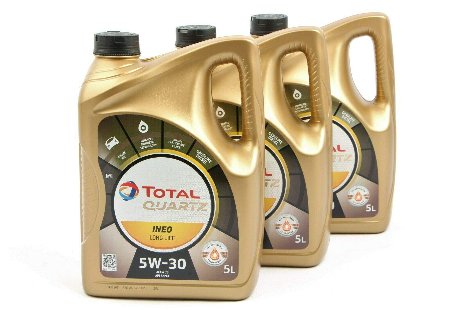 3x MOTORÖL TOTAL QUARTZ INEO LONG LIFE 5W-30 5L von TOTAL_bundle