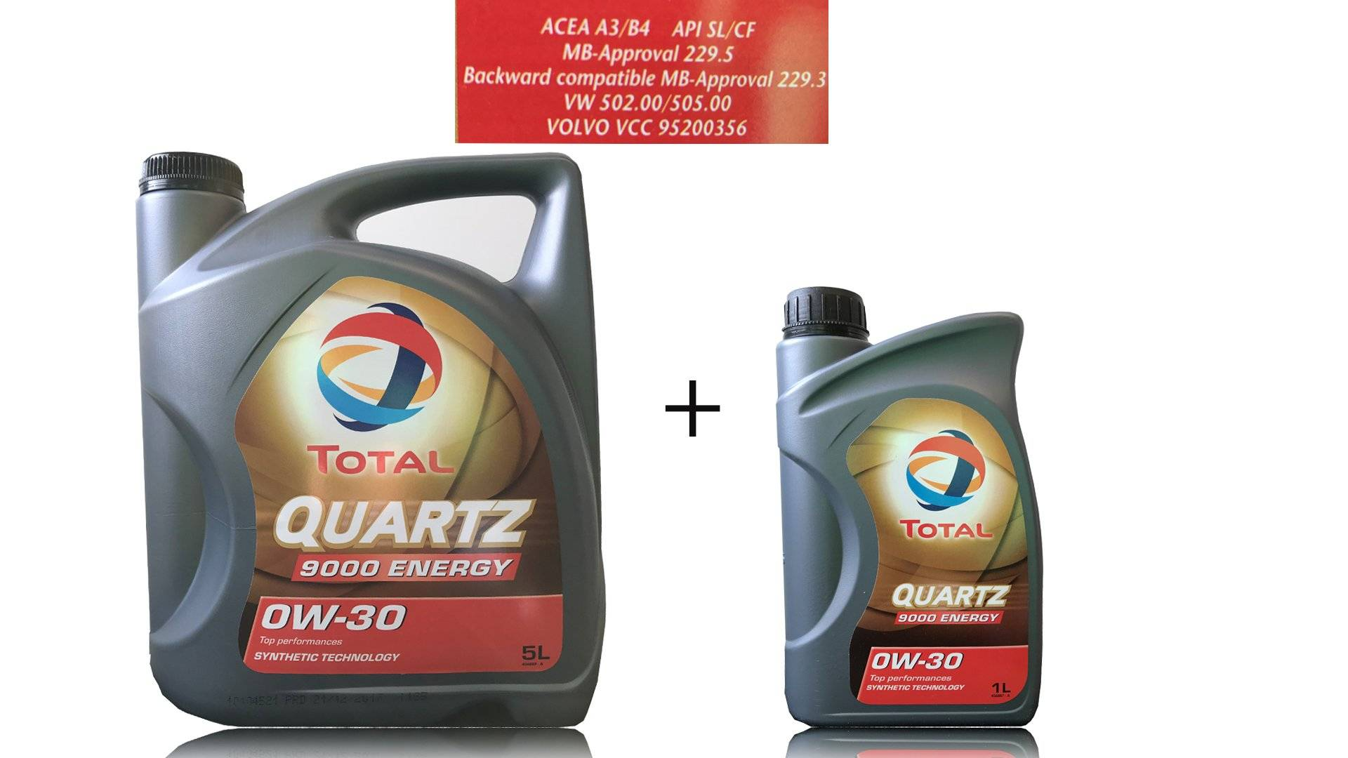 6 LITER MOTORÖL TOTAL QUARTZ 9000 ENERGY 0W-30 von TOTAL_bundle