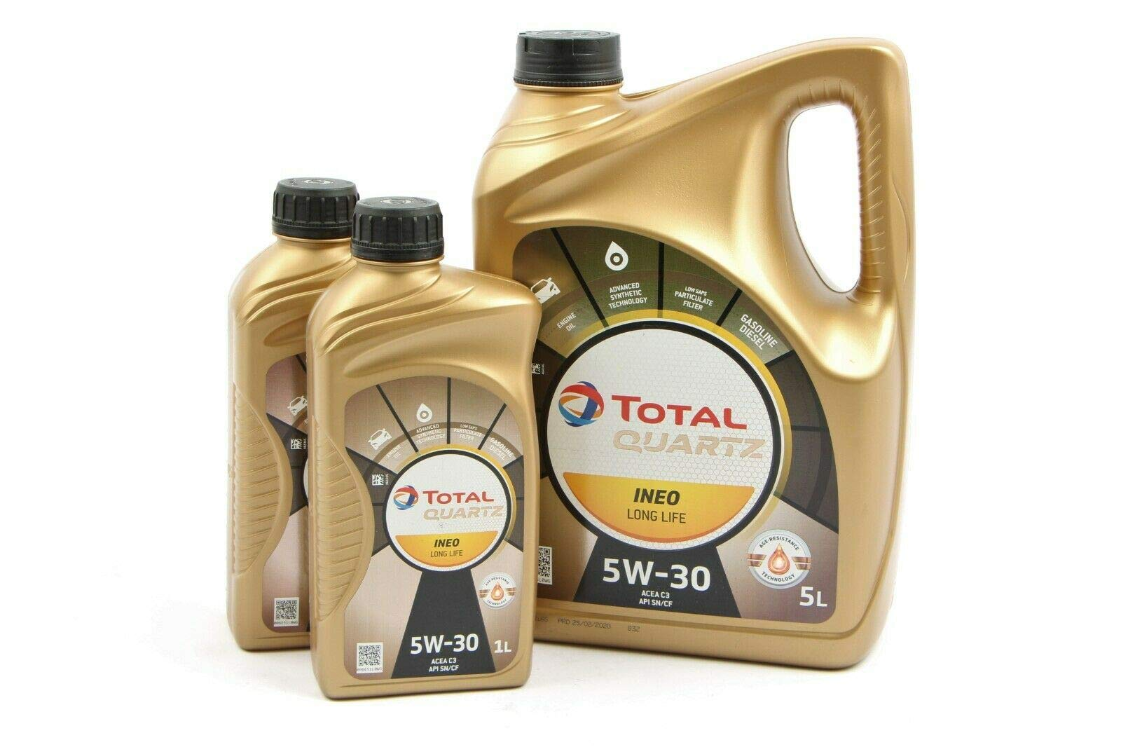7 LITER MOTORÖL TOTAL QUARTZ INEO LONG LIFE 5W-30 von TOTAL_bundle