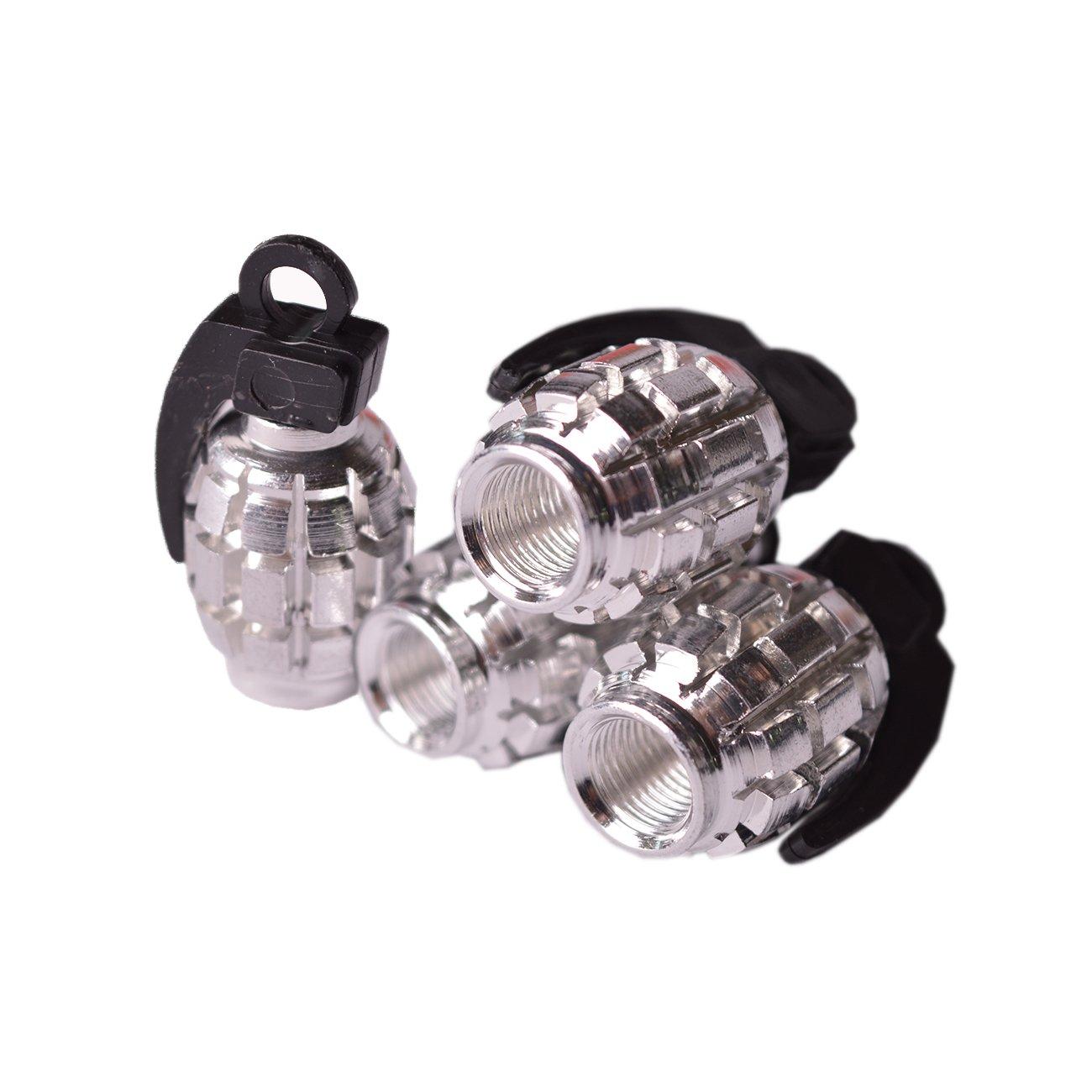 Ventilkappen Modell Augapfel wei/ß 4 St/ück Reifen R/äder Motorrad Auto Bike Ventil Luft Schmuck