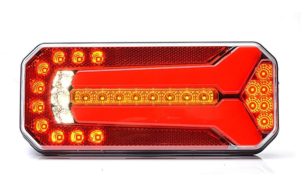 LED Nebelschlu/à/Ÿleuchte Nebelleuchte 12//24V Leuchte Anh/änger Pkw Lkw W99