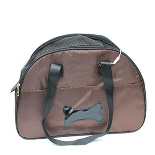 WYXIN Cat Dog Carrier Airline Approved Haustier Reisen Soft Sided Tote Schultertaschen mit atmungsaktiven Mesh-Matten , coffee color von WYXIN