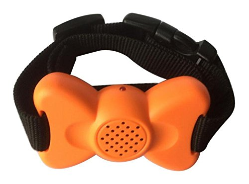 WYXIN Einstellbare Vibration (1-6) Dateigröße Bow No Bark Collar , Orange von WYXIN