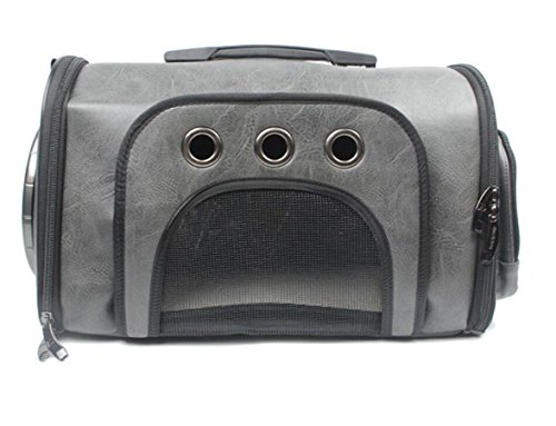 WYXIN Innovative Traveller Bubble Handtasche Pet Carriers für Katzen und Hunde (Switchable Dark Grey) , Gray von WYXIN