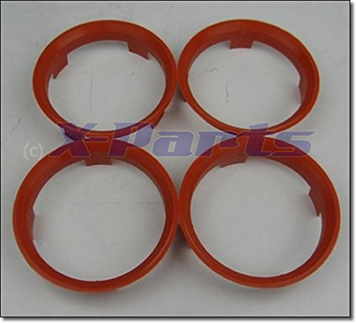 4er Set Felgen Zentrierringe ORANGE 60,1 auf 58,1 mm Alufelge von X-Parts
