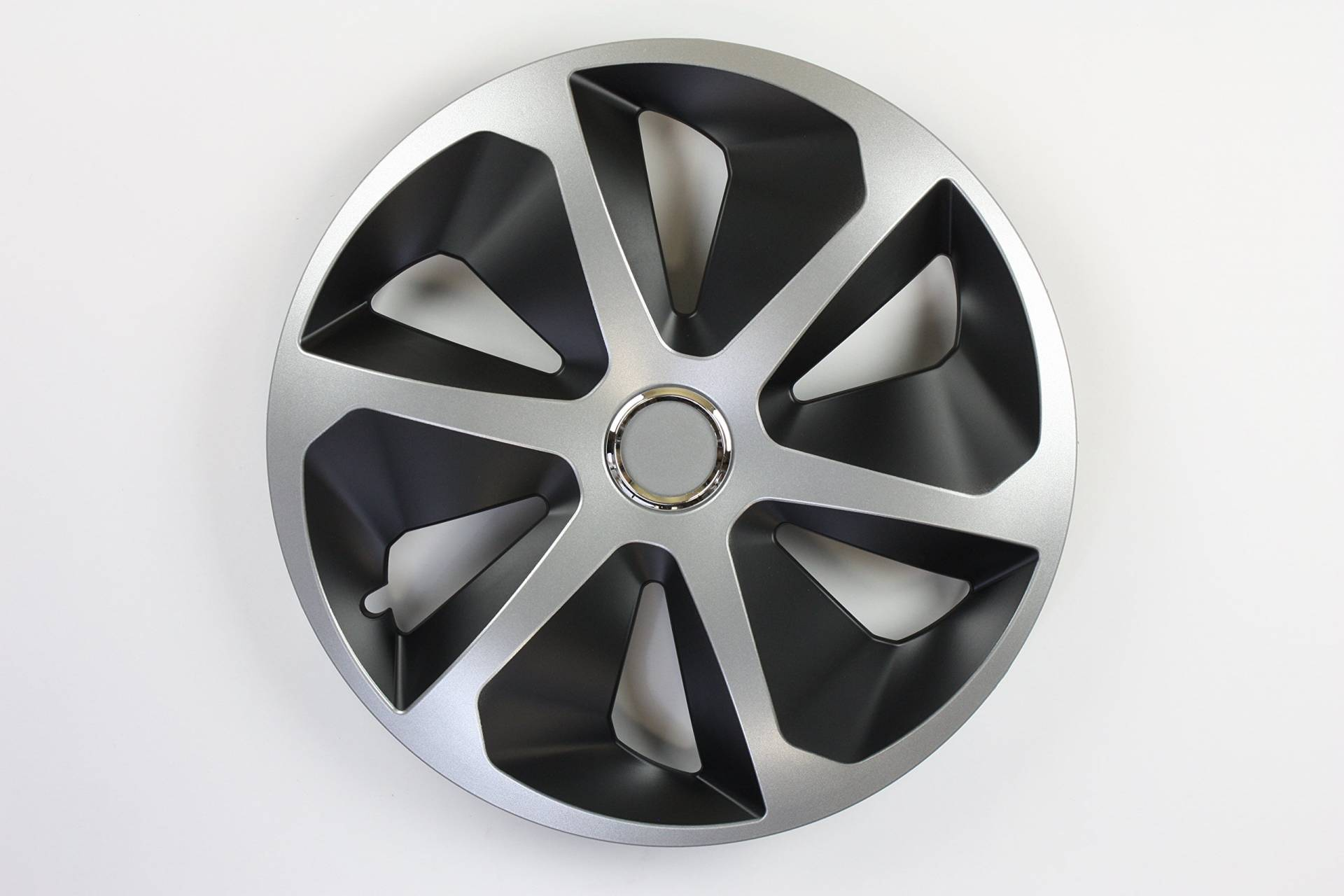 ZentimeX Z778230 Radkappen Radzierblenden universal 14 Zoll black/&silver
